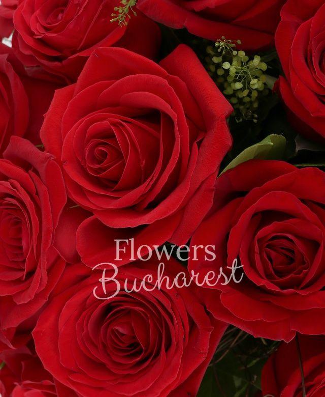 21 trandafiri rosii, salal