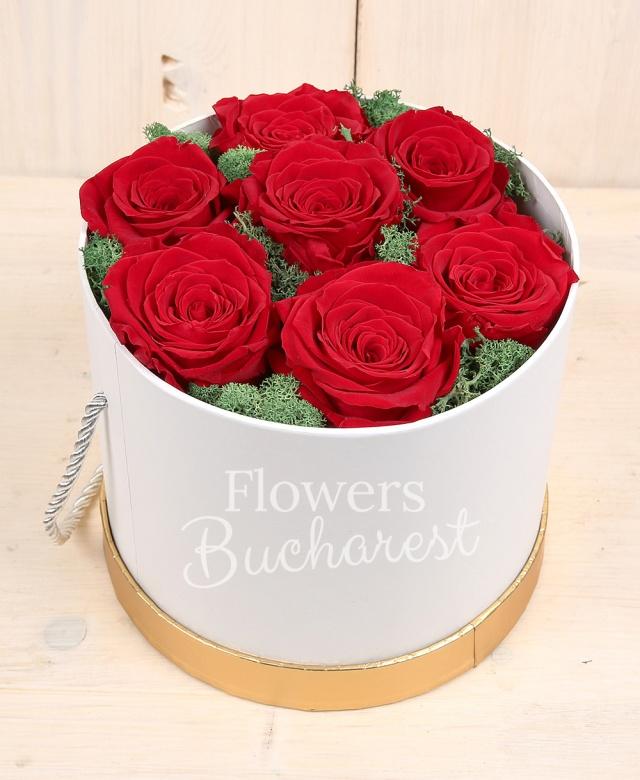 7 trandafir_criogenat_rosu, cutie rotunda